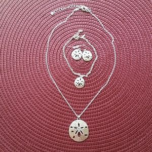 Jewelry - Sand Dollar necklace, bracelet and earrings set
